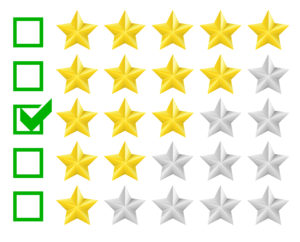 Survey ratings with stars