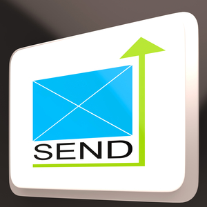 Send Mail Button Shows Online Communication And Mailing