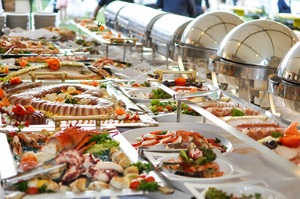 Buffet Line of Food represents content marketing customer experience and word of mouth leadership