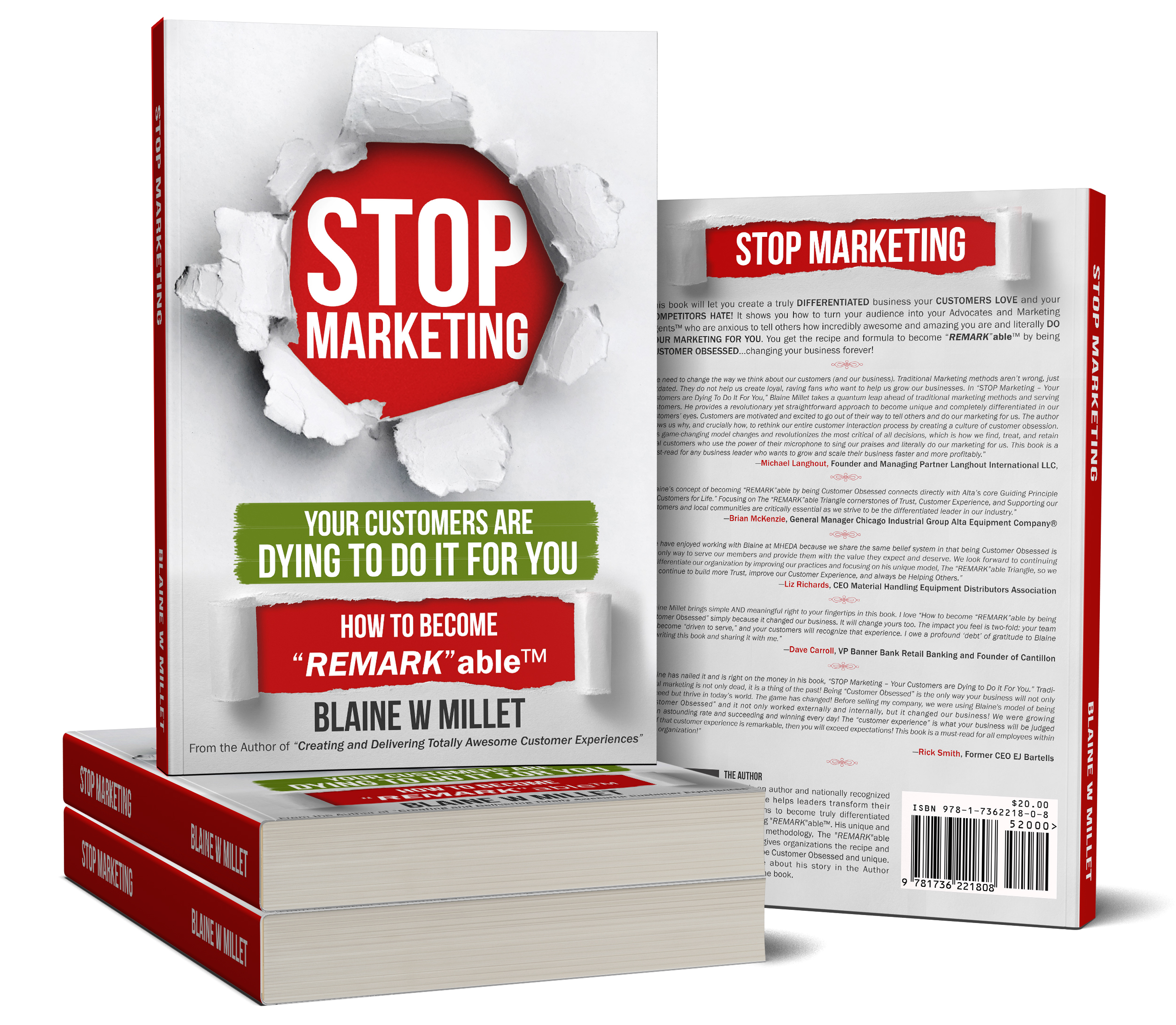 """STOP Marketing - Your Customers Are Dying To Do It For YOU - How to become """"REMARK""""ableTM"""
